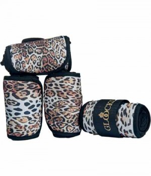 HKM Bandagen Fleece AnimalPrint 4erSet 15,-