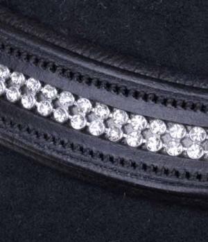 HKM Stirnband Crystal m.Strass 2-reihig(VE2)