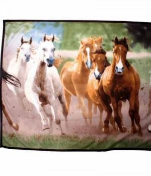 HKM Tagesdecke Fleece Pferdeherde
