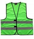 Textil Reflex Warnweste mit Klettverschluss SP - grün