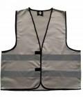 Textil Reflex Warnweste mit Klettverschluss SP - grau