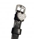 Sporenriemen Leder Diamant British Line - schwarz-herz