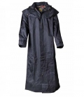 Australian Fashion Regenmantel ungefüttert Stockman Coat - schwarz