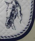 Imperial Riding Schabracke mit Strass Pferdekopf Sale - weiß-navy