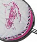 Imperial Riding Schabracke mit Strass Pferdekopf Sale - weiß-rosa