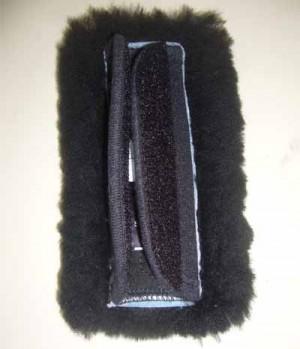Mattes Kinnkettenunterlage Lammfell 6 cm