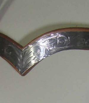 Western Showzaum breit Silberschnallen S