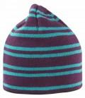 Mütze Beanie gestreift mehrfarbig SP - plum/turqu