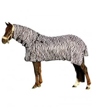 Euroriding Fliegendecke Zebra mit Halsteil