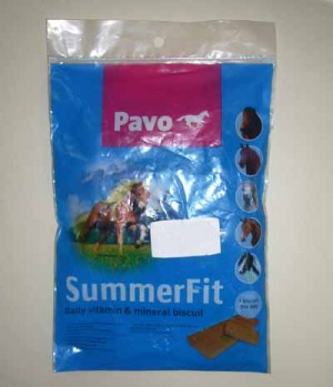 Pavo Summerfit  Mineralbriket Probe