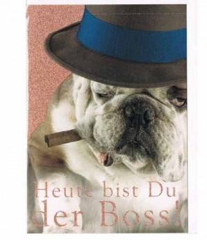 Hippobook Grußkarte Heute bist du der Boss