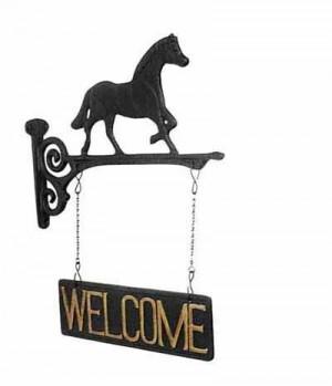 HKM Schild Welcome m.Pferdchen