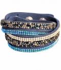 Waldhausen Armband mit Strasssteinen *** - blau