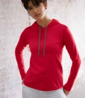 Textil Shirt langarm sehr leicht mit Kapuze SP - rot
