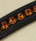 Stirnband Strass curved Sale - schwarz-gold
