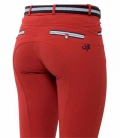Spooks Reithose Damen Ricarda Loop Full Grip - rot