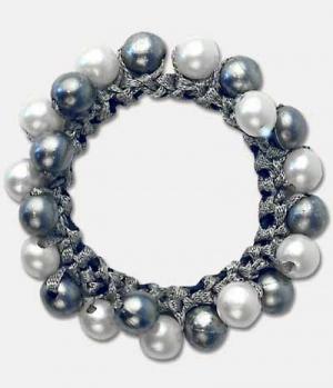 Waldhausen Zopfring mit Perlen