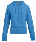 Textil Sweat Jacke Ladies Hoody breiter Bund - türkis