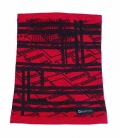 Textil Loop Multifunktion Winter Bufanda - rot schwarz