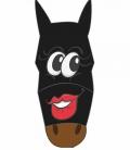 Pfiff Fliegenmaske mit Motiv Sale - schwarz grau
