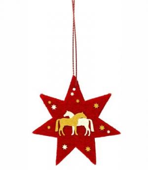 Happy Ross Weihnachtsanhänger Filz Pferdchen