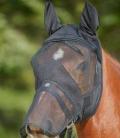 Waldhausen Fliegenmaske m.Nasenschoner mit Ohren - schwarz