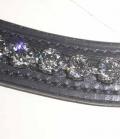 Stirnband Strass curved Sale - schwarz-anthrazit