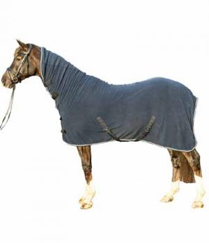 HKM Abschwitzdecke Fleece mit Halsteil