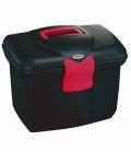 Kerbl Putzbox Roma stabil und groß - schwarz-pink