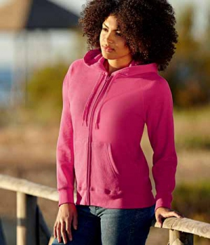 Textil Sweat Jacke Damen  Hoody Lightweight