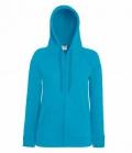 Textil Sweat Jacke Damen  Hoody Lightweight - azurblue