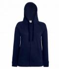 Textil Sweat Jacke Damen  Hoody Lightweight - navy