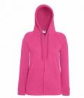 Textil Sweat Jacke Damen  Hoody Lightweight - fuchsia