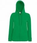 Textil Sweat Jacke Damen  Hoody Lightweight - grün