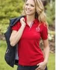 Covalliero Polo Shirt Damen Briget tailliert - rot