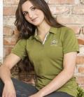 Covalliero Polo Shirt Damen Briget tailliert - khaki