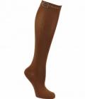 Covalliero Reitstrumpf Grado dünn und leicht uni - brown