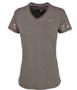 Pikeur Shirt Damen Holly mit V-Neck  Pailletten