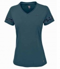 Pikeur Shirt Damen Holly mit V-Neck  Pailletten - orionblue
