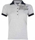 Euro-Star Polo Shirt Bella mit Pailletten FS17 SP. - 062grey