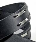 Pikeur Gürtel mit silberfarbender Schließe Sale - schwarz