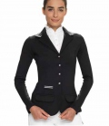 Spooks Turnierjacke Damen Stripes figurbetont - schwarz