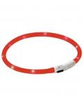 Leuchthalsband Maxi Safe LED 3 Stufen - rot