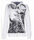 HV Polo Sweat Jacke Damen Lindsey Photoprint - weiß