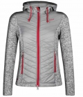 Euro-Star Jacke Damen Faliza Materialmix Strick SP - 955greymel