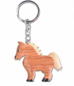 Waldhausen Schlüsselanhänger aus Holz Pferd