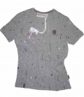 Naketano T-Shirt Herren Ali Kurt Kal Spots - gunsmoke