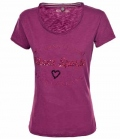 Pikeur T-Shirt Damen mit Pailletten Applikation - grapevine