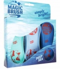 Kerbl Bürste Magic Brush 3-er Set - Deep Sea