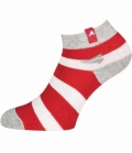Euro-Star Reitsocken kurz Stripe Summer - strowberry